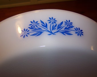 Cornflower Blue Divided Serving Dish