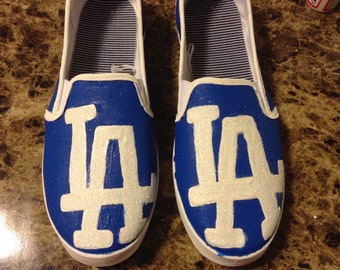 Los Angeles Dodgers Handpainted Canvas Shoes-MTO