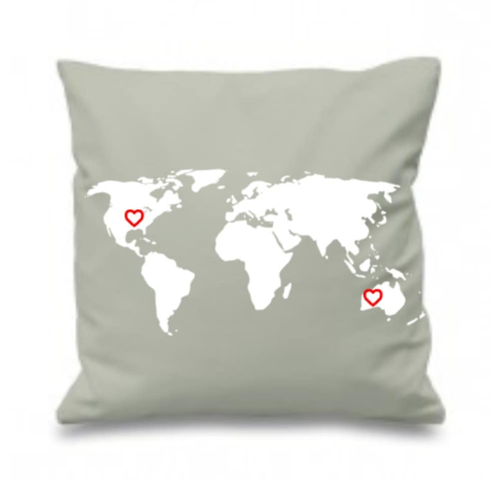 custom world cushion cover 16 x 16 missing you. Black Bedroom Furniture Sets. Home Design Ideas