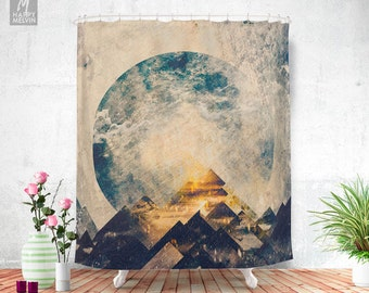 One mountain at a time - Shower curtain - Bathroom decor - Home decor - Boho decor - Trendy - Wanderlust - Nature decor - Curtains