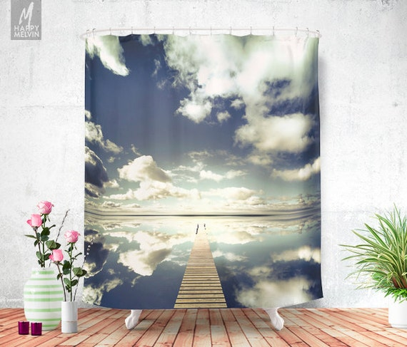 Vanity Shower Curtain Ocean Landscape