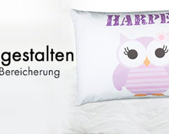 Personalized pillowcase front and rear self make 80 x 80 cm