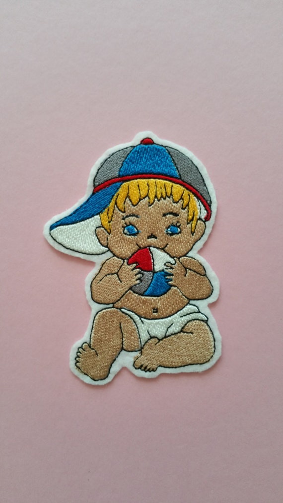 Baby, Infant Iron On Patches. Sweet baby iron on patches. Pacifiers, little dinos, pets, and rattle iron on patches. A wide selection for your baby projects.