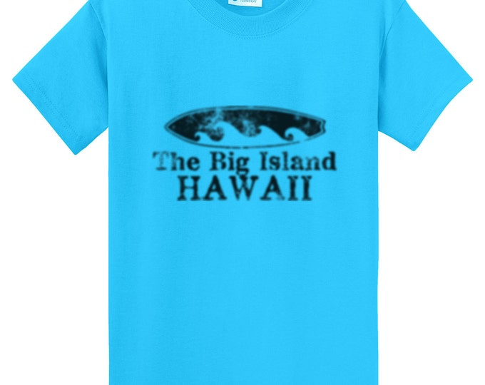 The Big Island Hawaii Surfboard T-Shirt