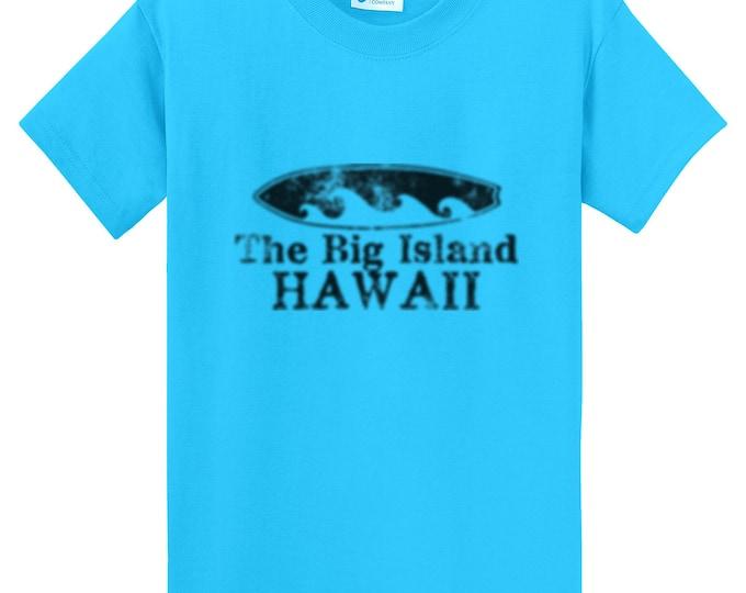 The Big Island Hawaii Surfboard T-Shirt