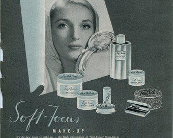 Perfume, fragrance, powder, makeup, beauty - Letheric perfumes; reverse Flatternit hosiery, stockings, approximately 8x10 in. - PD001740
