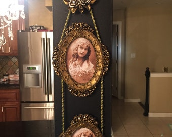 Two tier frame wall hanging