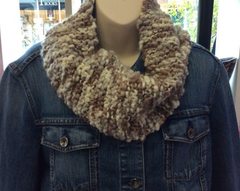 Handknitted Cowl , lovely soft but chunky cowl scarf
