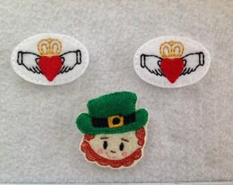 Cladagh Feltie,  Leprechaun Feltie, St Patrick Feltie, Your Choice,  Always Precut