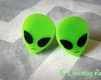 Alien Earrings studs