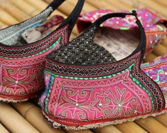 44 Stunning Vintage Hmong Handmade Sandals Large