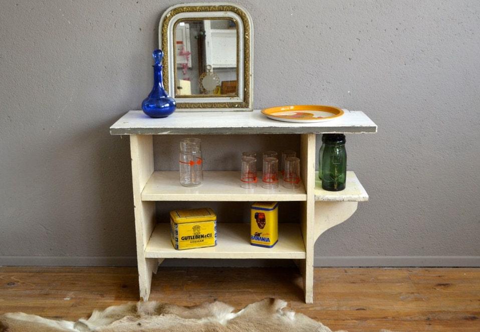 etag re ancienne r tro rustique banc de pot tag re de. Black Bedroom Furniture Sets. Home Design Ideas