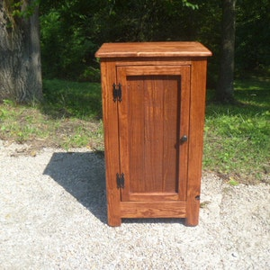 Rustic Pallet Cabinet With Wood Door, Rustic Nightstand, End Table, Jelly  Cabinet,