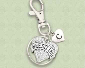 Custom Initial Wrestling Keychain Zipper Pull