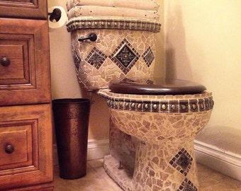 Mosaic Toilet