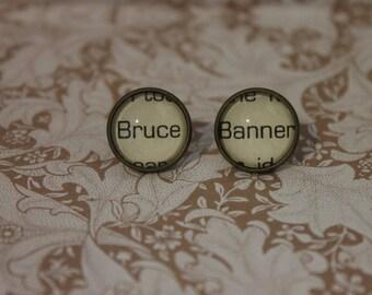 Bruce Banner Earrings ~ The Incredible Hulk ~