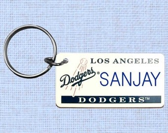 Personalized Los Angeles Dodgers keychain - key ring