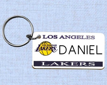 Personalized Los Angeles Lakers keychain - key ring