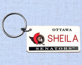 Personalized Ottowa Senators keychain - key ring