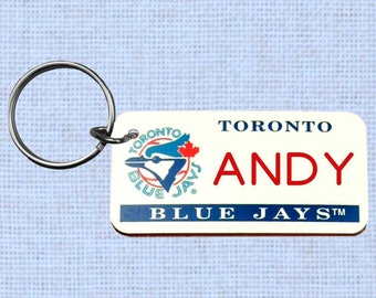 Personalized Toronto Blue Jays keychain - key ring