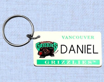 Personalized Vancouver Grizzlies keychain - key ring