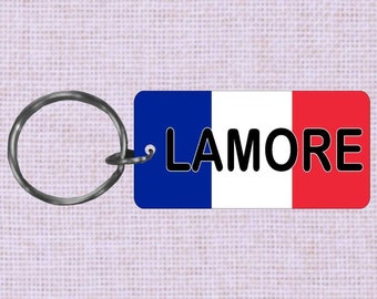 Personalized France Country flag keychain