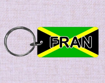 Personalized Jamaica  Country flag keychain