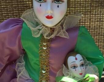 Vintage Porcelain Jester Doll