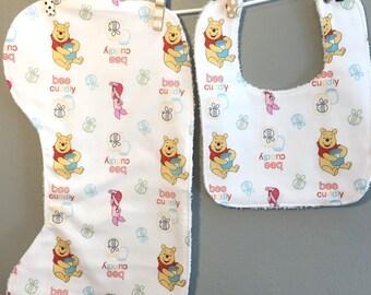 Winnie the Pooh Baby Gift Set Bib, Burp Cloth