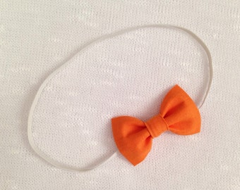 Little Orange Bow Headband