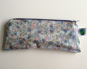 Floral small wet bag 22 x 8 cm, waterproof purse – for CSP storage, coins