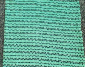 Teal with Black zig zag Jersey Knit Swaddle Blanket