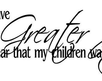 I have no greater joy than to hear that my children walk in truth decal