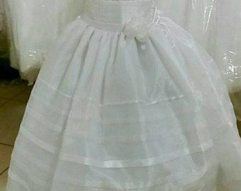 First Communion dress, christening dress, beautiful dress for first communion, available in white or ivory
