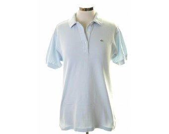 Lacoste Womens Polo Shirt Size 42 14 Medium Blue Cotton