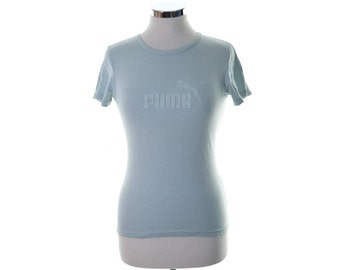 Puma Womens T-Shirt Size 12 Medium Blue