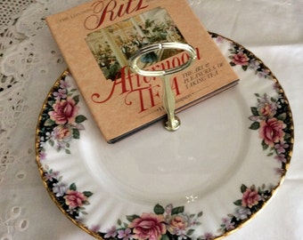 "Royal Albert ""Concerto"" Bone China Tidbit Pastry Serving Display Tray"