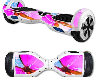 Skin Decal Wrap for Self Balancing Scooter Hoverboard unicycle Pink Butterfly
