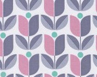 Clearance Fabric - Fabric by the yard - Modern fabric - Grey Modern Flower - Quilting Fabric - Floral Fabric