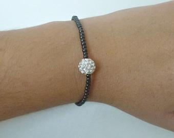 Beaded bracelet Hematite bracelet