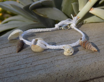 Handmade Braided Shell Bracelet