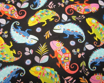 Childrens Lizard Cotton Fabric by Timeless Treasures