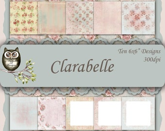 Clarabelle 6x6 Collection - Instant Download