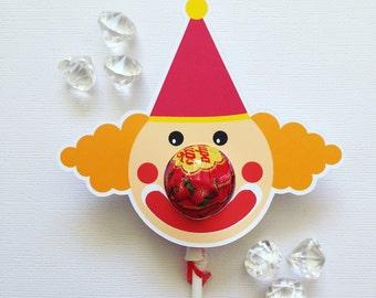 Clown lollipop holders