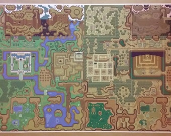 Nintendo poster etsy zelda gigantic 48 x 24 poster print link to the past lightdark gumiabroncs Images