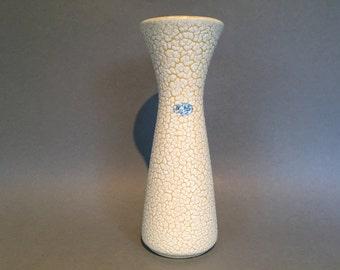 Jasba Cortina 602 - 27 Keramik  yellow / white diabolo vase Mid Century Modern   1950s / 1960s     West Germany Pottery. WGP vase.