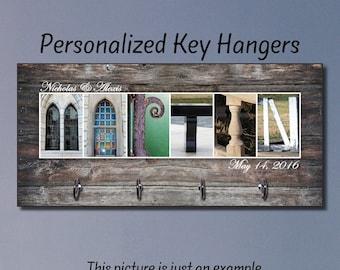 Key Hanger, Wedding Gift, Anniversary Gift, Key Holder, Key Rack, Key Wall Organizer, Housewarming Gift, New Home Gift