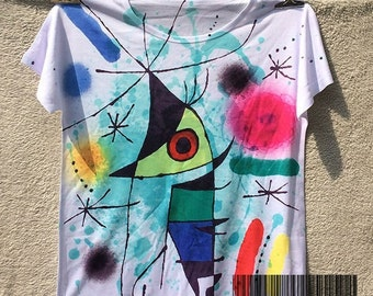"t-shirt art women ""Joan Miró"""