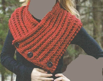 BUTTONED HEATHER SNOOD