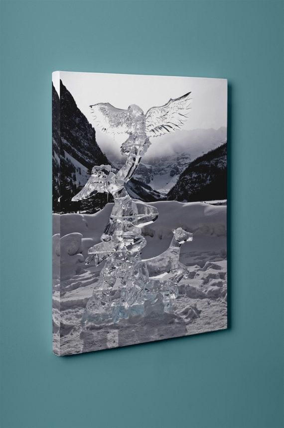 Lake Louise Ice Swan Structure | Mirror Wrapped HP Professiona; Canvas